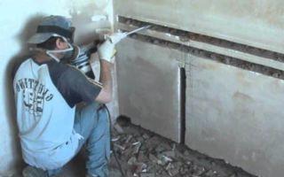 Можно ли штробить стены и потолок?