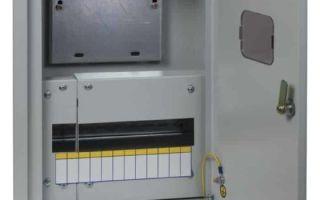 Установка металлических шкофов для счетчиков