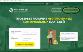 Задолженность по ЖКХ по коду плательщика