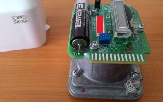 Замена батарейки на газовом счетчике Бетар