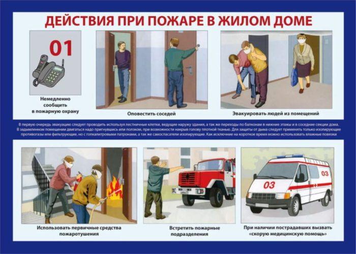 действия при пожаре