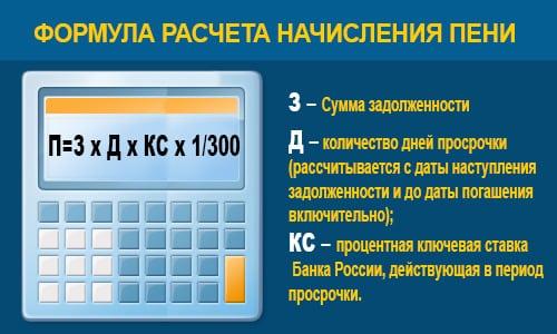 формула пени