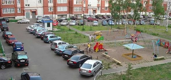 парковка около мкд