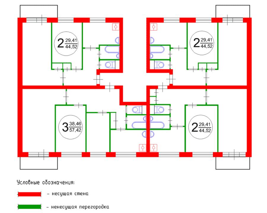 схема стен