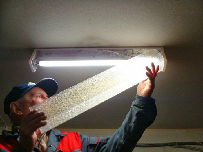 замена лампы в мкд